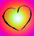 Warm Hearth shape Royalty Free Stock Photo