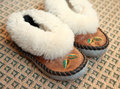 Warm house slippers Royalty Free Stock Photo