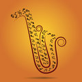 Warm jazz background, vector Stock Photo