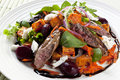 Warm Lamb Salad Royalty Free Stock Images
