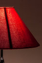 Warm moody shades table lamp Stock Images