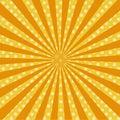 Warm orange pop art retro comic background raster
