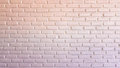 Warm red and white brick wall for texture or background
