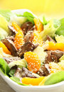 Warm salad with chicken liver Royalty Free Stock Photo
