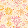 Warm stars seamless pattern background vector with hand drawn elements Stock Photos