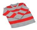 Warm striped sweater Stock Image