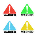 Warned signs