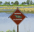Warning Alligators Stock Photo