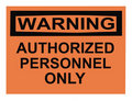 Warning Authorized Personnel Royalty Free Stock Photo
