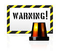 Warning background vector with flasher Royalty Free Stock Image