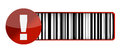 Warning barcode UPC Stock Photos