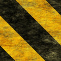 Warning Black&Yellow Hazard Sign Royalty Free Stock Photography