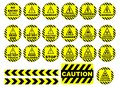 WARNING AND CAUTION SIGNS Royalty Free Stock Photo