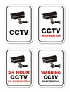 Warning cctv in operation warning signs suitable for Royalty Free Stock Photography