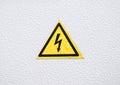 Warning Danger sign on metal Royalty Free Stock Photo