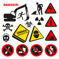 Warning Dangerous Label Signs