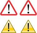 Warning Exclamation Label Sign Symbol Stock Photo