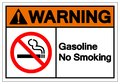 Warning Gasoline No Smoking Symbol Sign, Vector Illustration, Isolate On White Background Label. EPS10