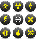 Warning  icons. Royalty Free Stock Images