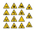 Warning industrial sign Royalty Free Stock Photo