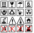 Warning of packaging symbol Royalty Free Stock Photo