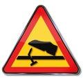Warning protruding nails and foot injury Royalty Free Stock Photo