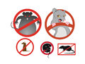 Warning rats Royalty Free Stock Images
