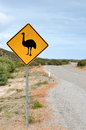 Warning Road Sign in Australia Royalty Free Stock Photo