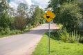 Warning road sign Royalty Free Stock Photo