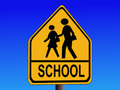 Warning School Sign Royalty Free Stock Photography