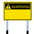 Warning sign Stock Photos