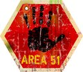 Warning sign area 51 Royalty Free Stock Photo