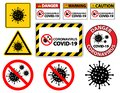 Warning sign,caution outbreak coronavirus covid 19