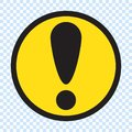 Warning sign, danger sign. Warning icon, danger icon. Exclamation mark icon, button for web. Royalty Free Stock Photo