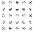 Warning sign icons with reflect on white backgroun