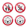 Warning sign: no babies, no children Royalty Free Stock Photos