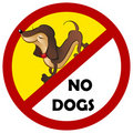 Warning sign No dogs allowed Royalty Free Stock Photo