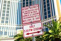 Warning sign prohibits obstructive uses of public sidewalks on the Strip Royalty Free Stock Photo