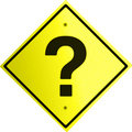 Warning sign of a question mark Stock Photography