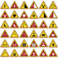 Warning Sign Set Stock Photography