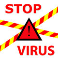 Warning sign stop virus illustration Stock Photos