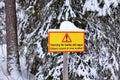Warning Sign At Storforsen
