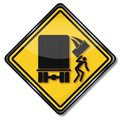 Warning sign unsafe freight Royalty Free Stock Photo
