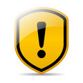Warning sign vector with exclamation mark Royalty Free Stock Image