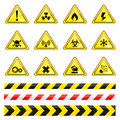 Warning sign vector illustration isolated Stock Images