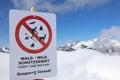 Warning Sign in Vorarlberg Royalty Free Stock Photo