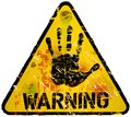 Warning sign worn and grugy vector scalable eps Royalty Free Stock Image
