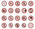 Warning signs Stock Photography