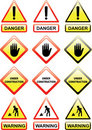 Warning signs Royalty Free Stock Photos