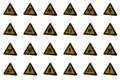 Warning signs various d bitmap Stock Photo
